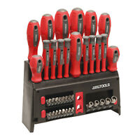 Great Working Tools 39 Piece Screwdriver Set - Magnetic Steel Tip Blades & Rack