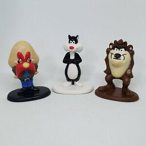 Vintage Looney Tunes Yosemite Sam Sylvester Cat Taz PVC Figure Lot 1987 Arbys