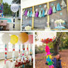 5 pcs/pack Tissue Tassels Paper Garland Bunting Wedding Party Xmas Decoration