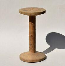 Ancienne grande bobine en bois -  objet déco ou collection