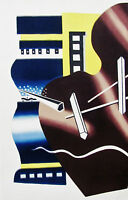 LEGER - THE PIANO - LITHOGRAPH - 1955   - FREE SHIPPING IN THE US  !!!