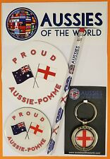 PROUD AUSSIE - POMME GIFT PACK AUSTRALIAN KEYRING MAGNET ENGLISH SOUVENIR