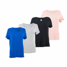 Hip Length Viscose Textured T-Shirts for Women