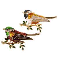 Enamel Bird Brooch Pin Crystal Rhinestone Animal Brooch Pin Clothes Jewelry LJ