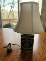 Working Cadbury's Cocoa Essence Tin Canister Lamp 1977 Vintage Advertising Light
