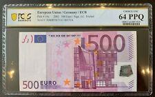 2017 EUROPEAN UNION GERMANY 500 EURO BANKNOTE  p14x CHOICE UNC PCGS 64 PPQ
