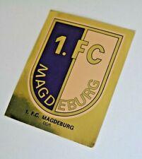 Panini Fußball Sammelbild 1980 / Glitzerbild Wappen 1.FC Magdeburg ungeklebt