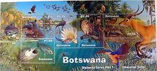 BOTSWANA WILD ANIMAL STAMPS SHEET WILDLIFE STAMPS OWL FISH HUMMINGBIRD HIPPO