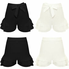 Polyester Machine Washable Patternless High Waist Shorts for Women