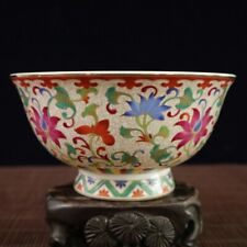 BEAUTIFUL CHINESE Old PURE HAND COLOUR ENAMELS FLOWER PORCELAIN BOWL