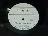33RPM JAZZ Vinyl TIMEX All-Star Jazz Show December 30, 1957 CS-1  VG+ RARE