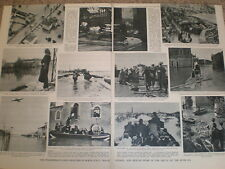 Photo article river Po floods Northern Italy 1951