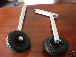 SMALL BOAT Folding Launching Wheels Fold Up Rib Inflatable Dinghy Ally Aluminium
