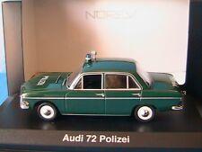 Audi 72 Polizei 1965 Norev 830024 1/43 Grün der Deutschen