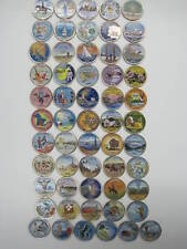 1999-2009 Complete Set Of 56 Colorized State Quarters