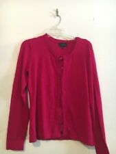 Investments Fustian Pink Cardigan Button down Women Sweater Top Blouse Size M