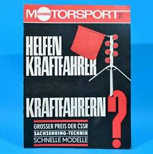 DDR Illustrierter Motorsport IMS 16/1967 MZ Sachsenring Wasserski Toyota Corona