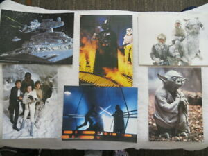 "Star Wars Fan Club - 6 Empire Strikes Back pictures noted ""Lucasfilm Ltd 1980""."