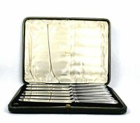 Vintage Elkington & Co Knives Silver Plated Sterling Silver Set of 6 Cased 1925