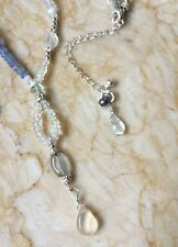 ETHIOPIAN Fire Opal Aquamarine Moonstone Pearl Sterling Silver Necklace Sundance
