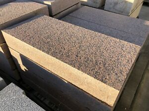 STUNNING PINK SOLID  GRANITE  STEPS EDGING KERBS COPING ONLY £50 Each !!!