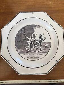 Assiette octogonale Choisy XIXéme - Décor mythologique