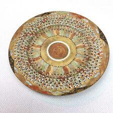 Circa 1890 Japanese Kaga Nakagawa Porcelain Thousand Faces Immortals Plate