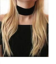 Thick Black Velvet Choker Necklace 90s Goth Punk Boho Bohemian Statement Jewelry