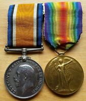 Brilliant Rare WW1 British War &  Victory Medal Pair Royal Engineer Tunneler