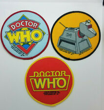 Doctor Who Vintage Cloth Patches from 1984. Your choice