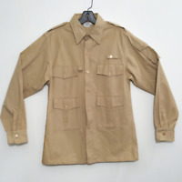 Orvis men's fishing shirts size small all cotton beige long-sleeve