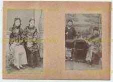 PHOTOS CHINESE LADIES ETC ? SHANGHAI TIENTSIN PEKING ? CHINA ALBUM PAGE C.1900