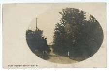 RPPC Main Street Mining Ghost Town SANDY RUN PA Luzerne Co Real Photo Postcard