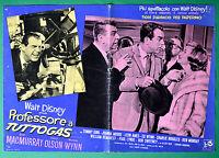 T14 Fotobusta Professor A Tuttogas Walt Disney Fred Macmurray,Nancy Olson Wynn