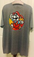 Super Mario Bros Mens Size 2XL XXL T Shirt Heather Gray Toad Nintendo