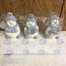 Lot Of 3 Snow Buddies Figurine  Ornaments Encore New