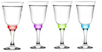 Set of 3 Stemmed Tall Red White Wine Glasses 245cc capacity 8.25 oz