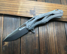 Decepticon All CNC D2 Blade Titanium Handle Fast open Folding knife DF41