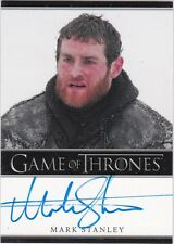 GAME OF THRONES SEASON 3 MARK STANLEY AS GRENN AUTOGRAPH