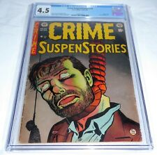 Crime SuspenStories #20 CGC Universal Grade 4.5 E.C. Comics Classic Hanging CVR