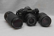 Canon A-1 35mm SLR Film Camera -PLUS 3 LENS