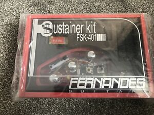 Fernandes Sustainer System FSK-401 Single Coil - Black & Chrome Knobs