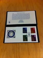 Sterling Silver Proof Coin & Stamp Cover 25th Anniversary Queen Elizabeth Limit