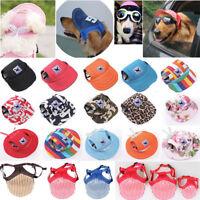 Pet Dog Hat Baseball Cap Windproof Travel Sports Sun Hats for Puppy LargeDog Lot