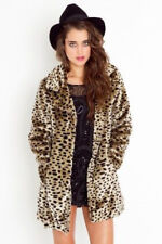 MISS SELFRIDGE UK SIZE 10-12 FAUX FUR LEOPARD PRINT WOMENS JACKET LADIES COAT