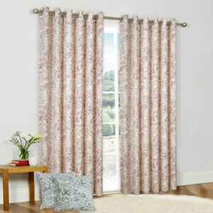 *NEW* MOIRA LINED RING TOP EYELET CURTAINS - MATCHING CUSHIONS AVAILABLE