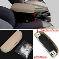 Car Interior Sunglasses Storage Box Sun Glasses Eyeglass Cases Beige Universal