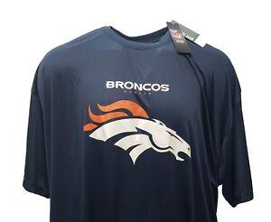 Denver Broncos Men's NFL Majestic Blue Poly Logo T-Shirt Big & Tall 5XL & 6XL