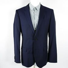 Hugo Boss Mens Blazer Sport Coat Size 40 R Reda Super Fine Dark Blue Virgin Wool