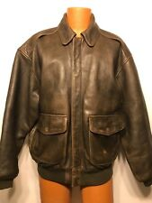 2165 AVIREX Mens Type A-2 US Army Air Forces Flight Bomber Leather Jacket Large